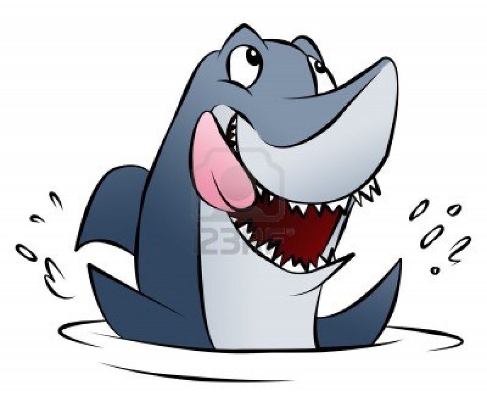 Day 195 1/6/14: Cartoon Shark Cavalcade
